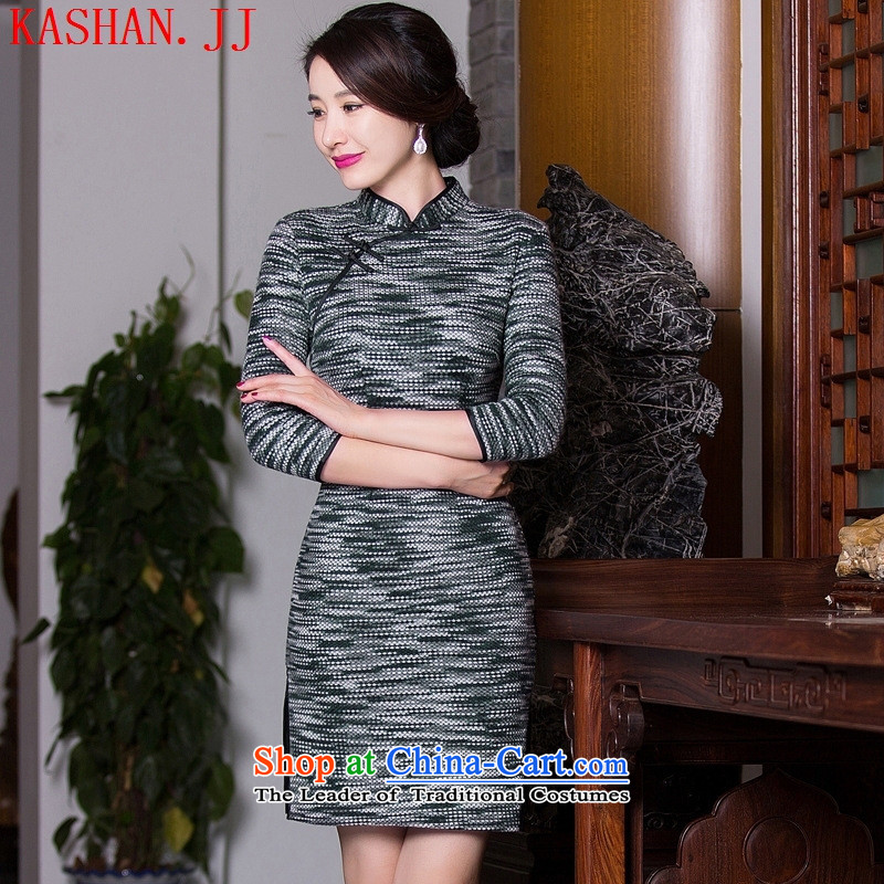 Mano-hwan's 2015 new improvements in the summer of Qipao Stylish retro long hair? cheongsam dress in cuff video thin figure female Sau San L