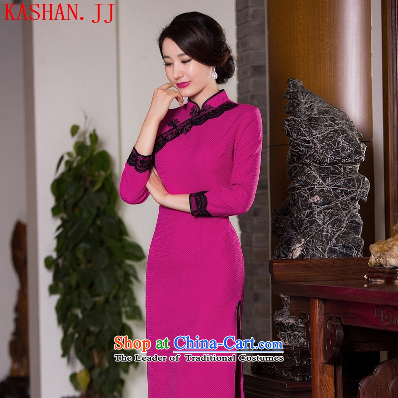 Mano-hwan's 2015 Autumn new retro cheongsam dress qipao Sau San improved qipao daily Ms. skirt dresses figure?XL