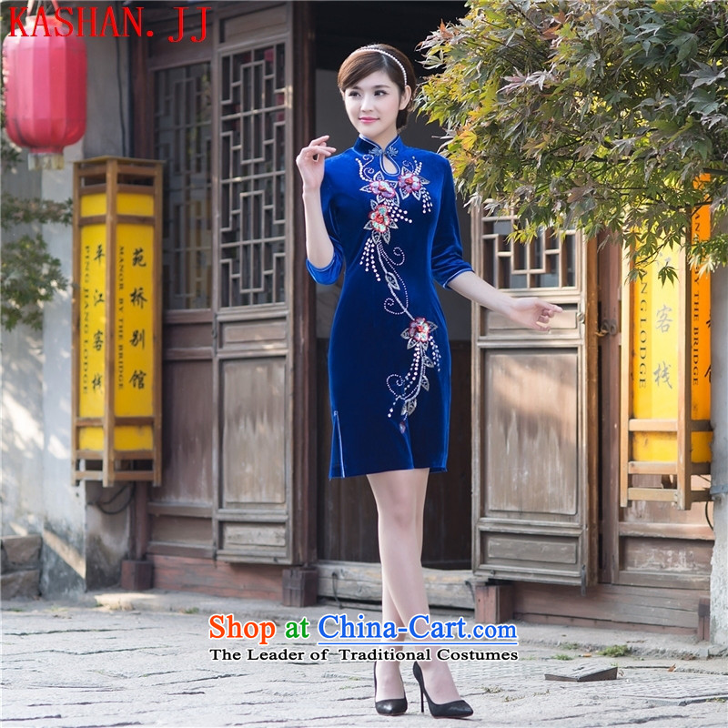 Mano-hwan, 15, a new summer, Retro qipao skirt improved Ms. Sau San scouring pads in the reusable cuffs qipao manually stylish dresses figure聽L