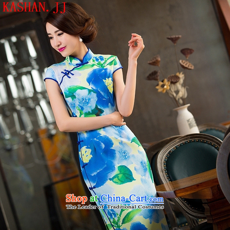 Mano-hwan's new retro dresses cheongsam dress qipao long straight clothing as figure燲XL