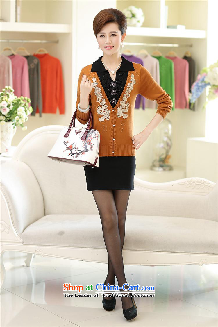 In 2015, the elderly women knitted shirts autumn MOM pack the middle-aged long-sleeved Pullover clothing lapel T-shirts with anthuriam聽110 pictures, prices, brand platters! The elections are supplied in the national character of distribution, so action, buy now enjoy more preferential! As soon as possible.