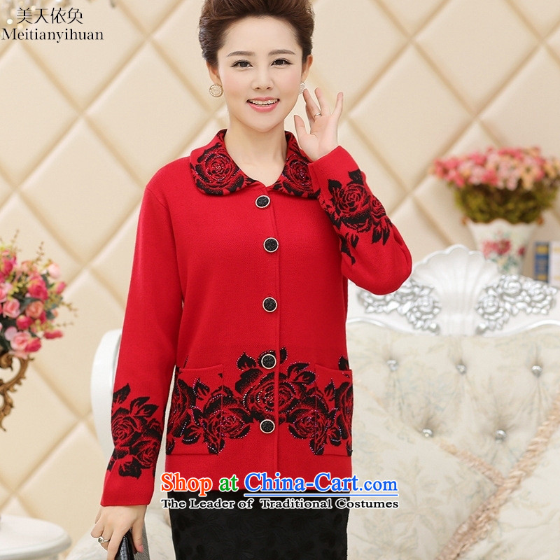Older persons in the autumn of women's clothing grandma loaded with elderly Fall_Winter Collections old lady thick sweater jacket sweaters with anthuriam L