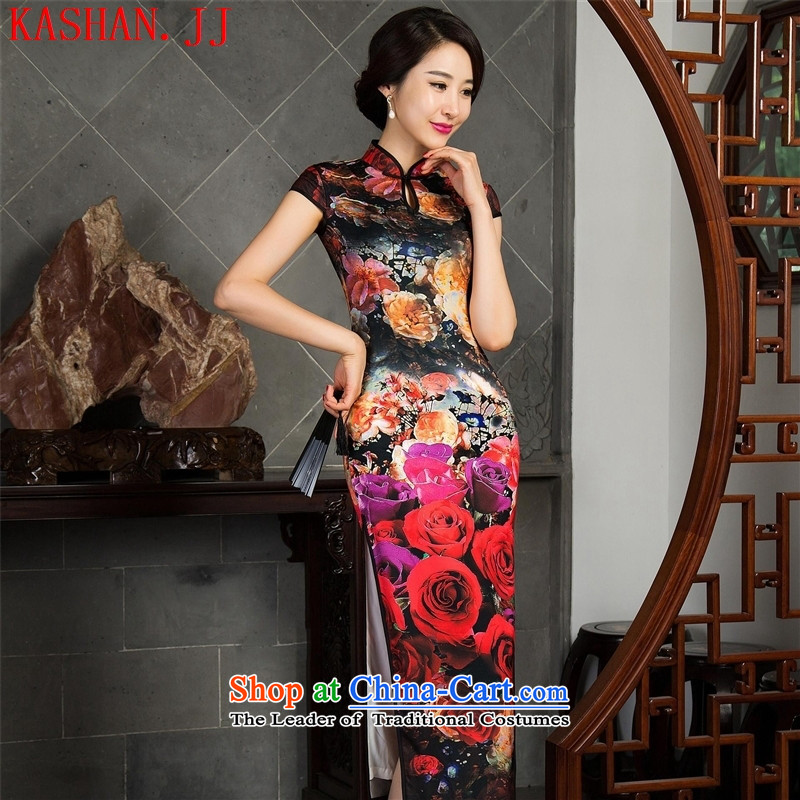 Mano-hwan's new cheongsam dress autumn Sau San sleeveless long qipao cheongsam dress聽11020 L