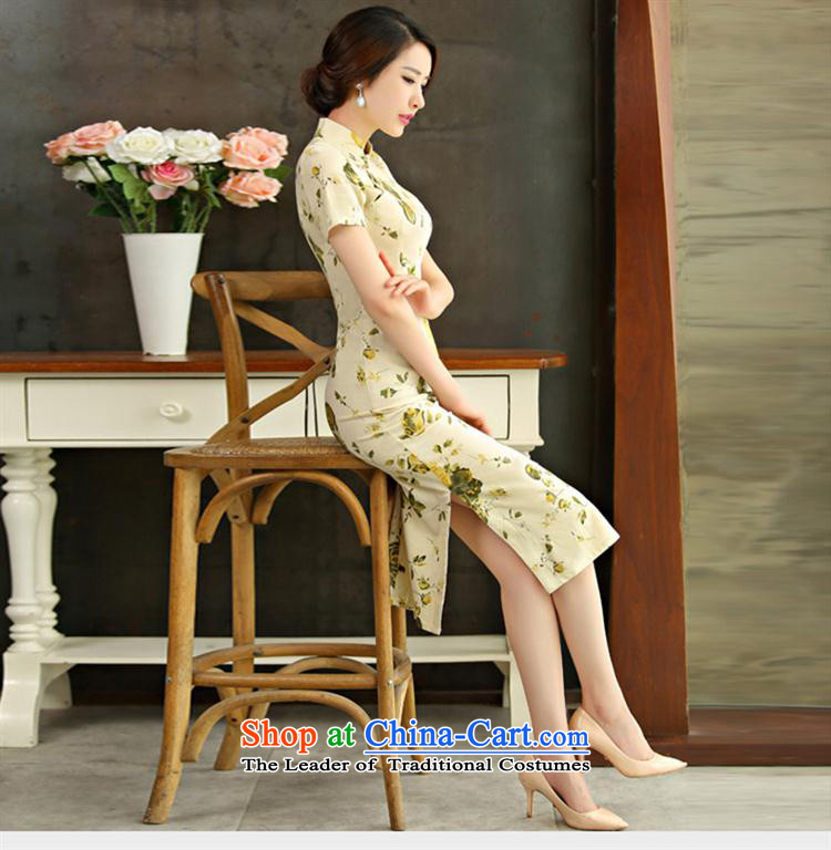 Mano-hwan's cotton linen dresses 2015 spring/summer load retro Sau San video short-sleeved thin large improved linen long qipao new HUANGMEI XL Photo, prices, brand platters! The elections are supplied in the national character of distribution, so action, buy now enjoy more preferential! As soon as possible.
