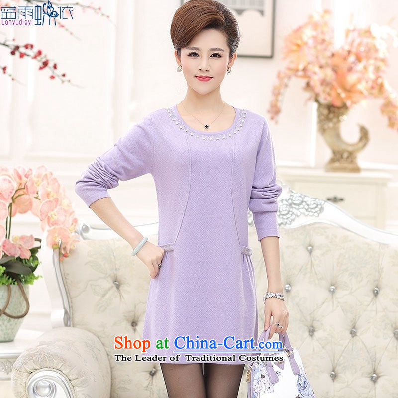 In 2015, the elderly woman fall inside the new Korean version of large numbers in mom long woolen pullover, forming the women and color燲XXL shirt m