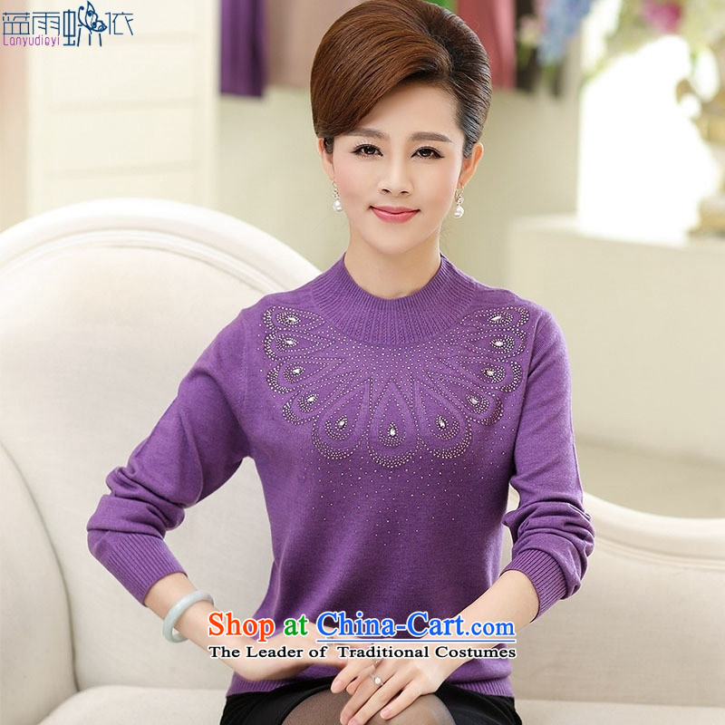 In 2015, the elderly woman fall in new long-sleeved forming the mother with middle-aged pink燲L
