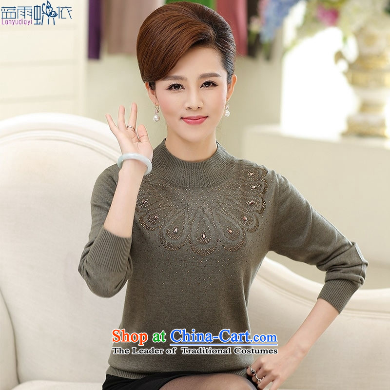 In 2015, the elderly woman fall in new long-sleeved forming the mother with middle-aged pink聽XL, blue rain butterfly according to , , , shopping on the Internet