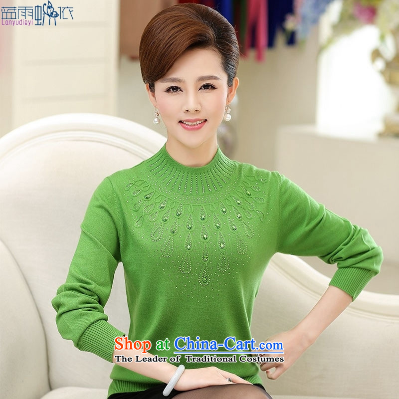 In 2015, the elderly woman fall in new moms with large middle-aged women wear long-sleeved green燲L