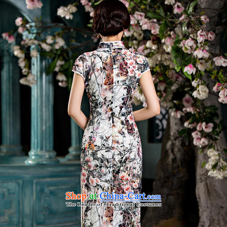 Mano-hwan's new double-cashmere long qipao daily Popular national wind female graphics thin ethnic performances cheongsam long facade聽L picture, prices, brand platters! The elections are supplied in the national character of distribution, so action, buy now enjoy more preferential! As soon as possible.