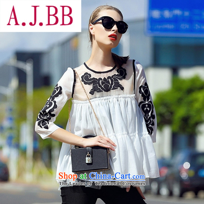 Ya-ting stylish shops 2015 Women's sleek and elegant ground gauze collage cloth like Susy Nagle embroidered loose 7 color photo sleeveless tops燤