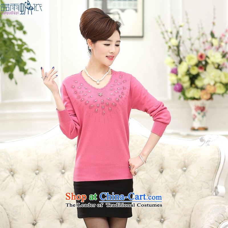 The new color in the Autumn and Winter Sweater woman older peacock diamond pattern round-neck collar Knitted Shirt with the Netherlands Government, forming the mother color�115