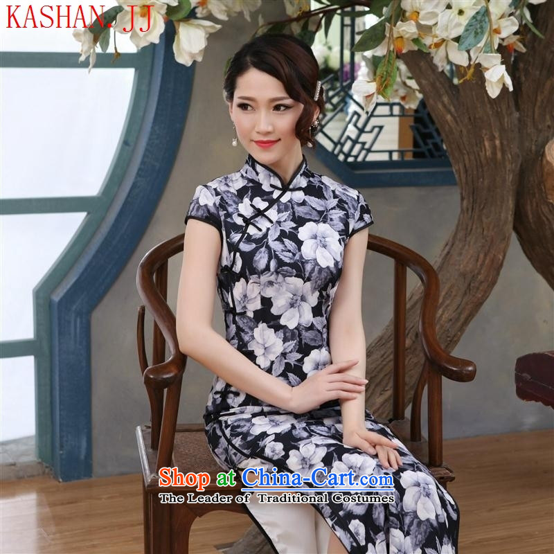 Mano-hwan's 2015 show long retro style qipao gown of Sau San long skirt improvement of Qipao picture color燬