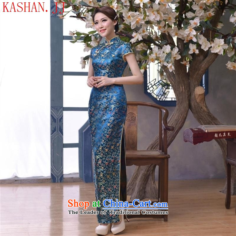 Mano-hwan's 2015 new spring and autumn temperament retro cheongsam high long dresses qipao gown picture suit?XL