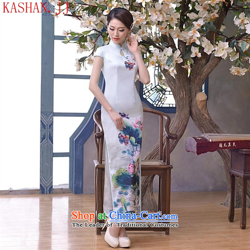 Mano-hwan's 2015 new retro style improved video quality Sau San slender Silk Cheongsam, dresses daily spring and summer load pictures Suit燤
