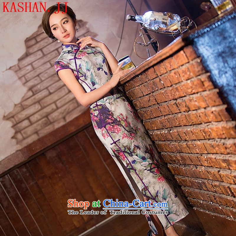Mano-hwan's 2015 new summer, Retro long cheongsam dress sexy pictures show services of the Republic of Korea color?XL