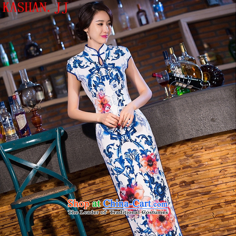 Mano-hwan's traditional cheongsam dress suit the new 2015 Skirt Classic long qipao republic of korea/picture color?XXL