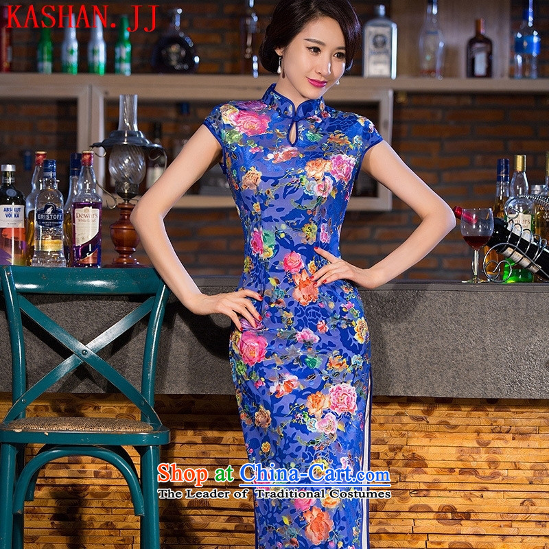 Mano-hwan's traditional qipao new summer and fall of 2015 Silk Dresses women of Qipao/picture stamp color?S