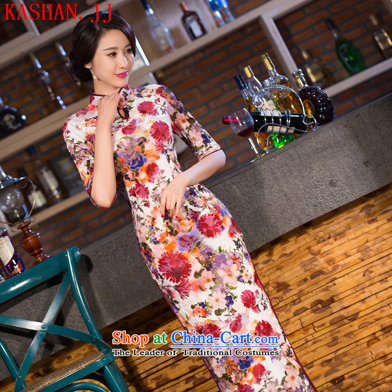 Mano-hwan's new 2015 cheongsam silk dresses of the Republic of Korea and the pretty Callejon de las Flores in traditional long qipao/picture color?S