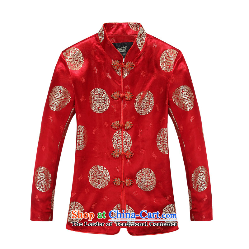 The autumn and winter, women aeroline-Tang dynasty long-sleeved jacket in MOM older Red�160
