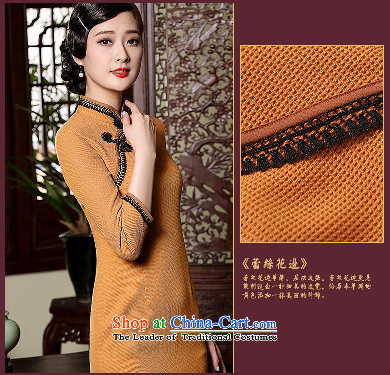 The seal of the Winter 2015 new products-to-day long qipao retro hair? improved long-sleeved Sau San Tong replacing qipao Ms. orange聽L picture, prices, brand platters! The elections are supplied in the national character of distribution, so action, buy now enjoy more preferential! As soon as possible.