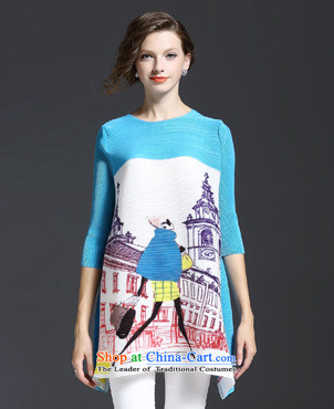The Black Butterfly European site Fall 2015 for women in Europe Figures Figure loose and neck sleeved shirt light blue are code picture, prices, brand platters! The elections are supplied in the national character of distribution, so action, buy now enjoy more preferential! As soon as possible.