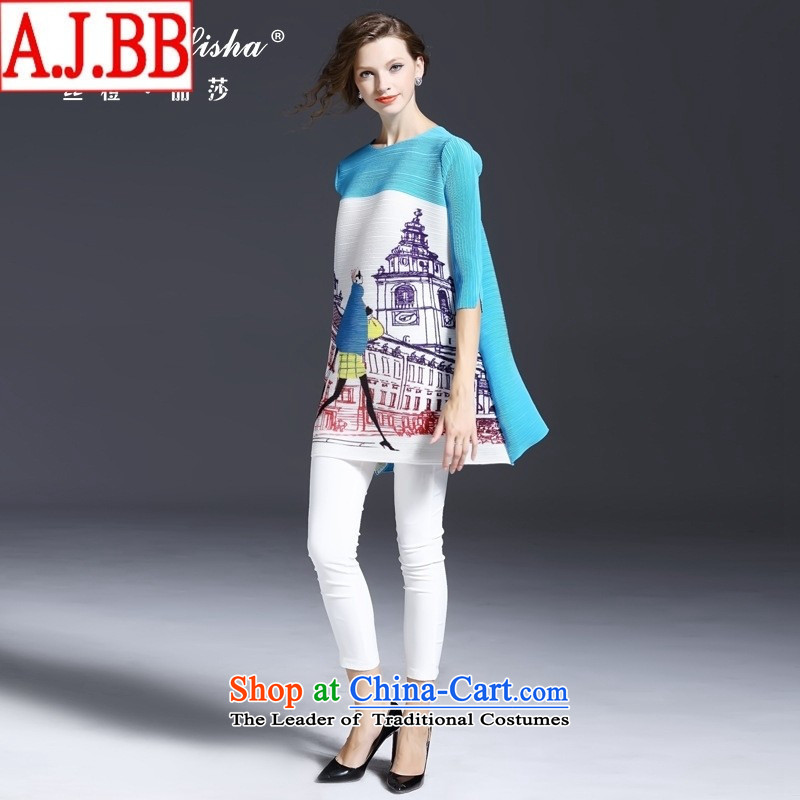 The Black Butterfly European site Fall 2015 for women in Europe Figures Figure loose and neck sleeved shirt light blue are code ,A.J.BB,,, shopping on the Internet