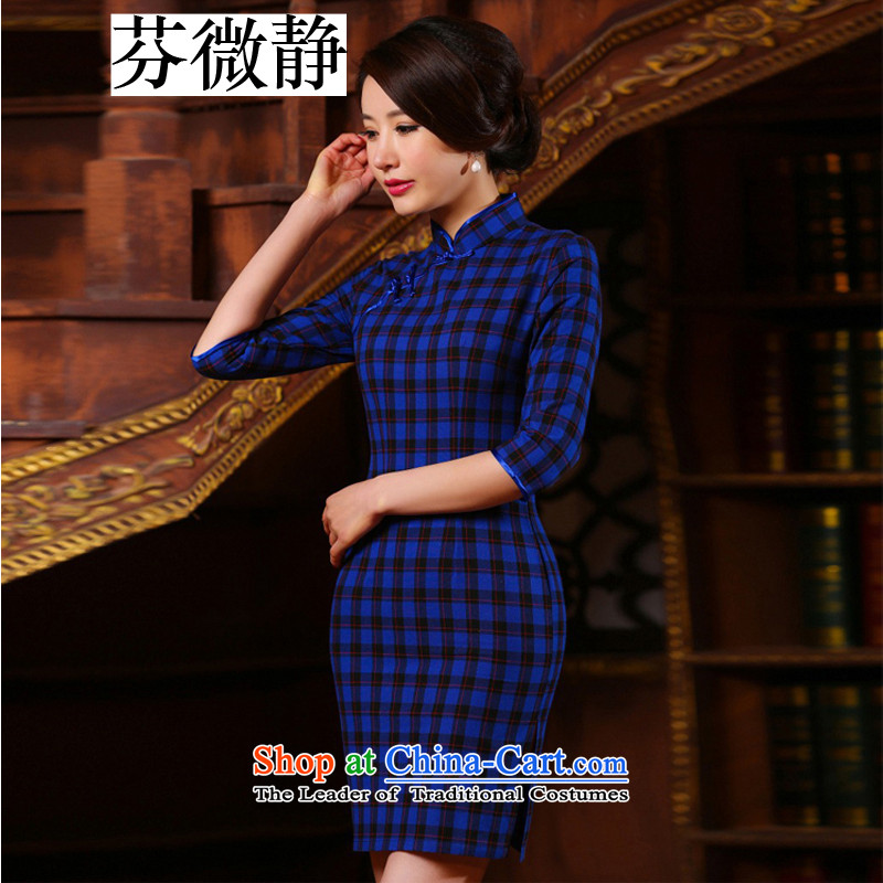 The Republic of China, micro-ching arts wind improved Sau San Box cuff qipao gown skirt ladies retro graphics thin OL elegance of the forklift truck skirt pictures low color?L