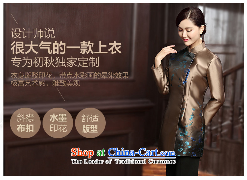 [Sau Kwun Tong] Kim Ying 2015 autumn and winter Ms. Tang dynasty new clothes Chinese improved jacket qipao TC5815聽3XL gold prices, pictures, brand platters! The elections are supplied in the national character of distribution, so action, buy now enjoy more preferential! As soon as possible.