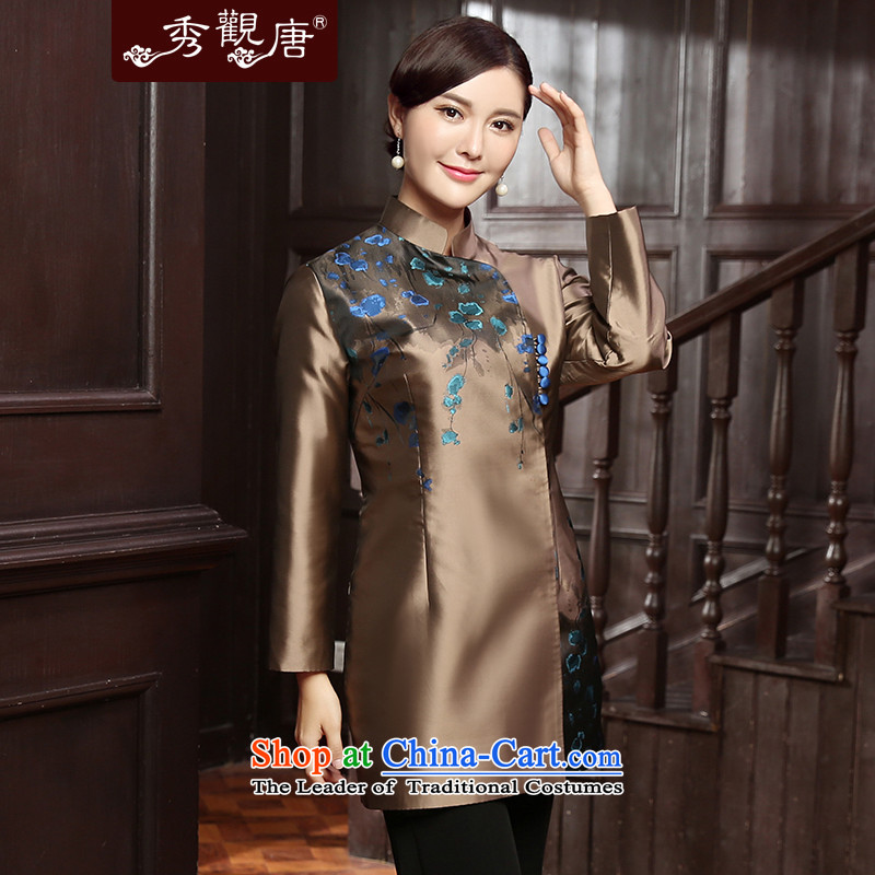 [Sau Kwun Tong] Kim Ying 2015 autumn and winter Ms. Tang dynasty new clothes Chinese improved jacket qipao TC5815聽3XL, gold-soo Kwun Tong shopping on the Internet has been pressed.