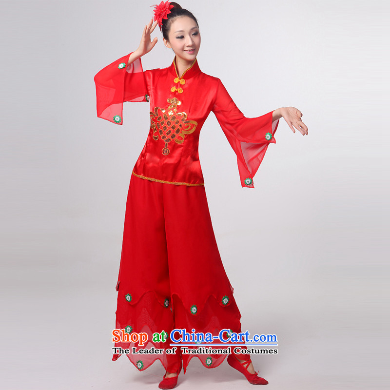 The autumn 2015 New Call Opening the dancers dance dance encouraging services will hurt our dance waist encouraged by female Stage Costume red high collar�M