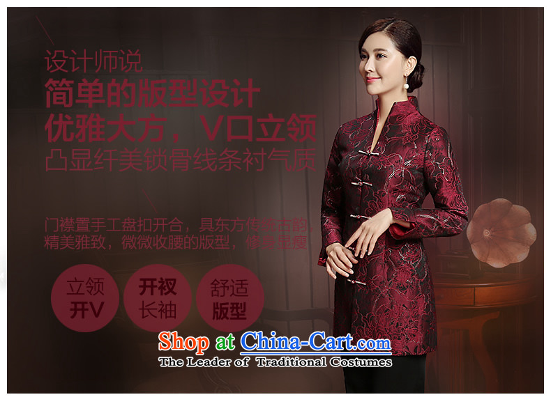 [Sau Kwun Tong] Cayman population by 2015 autumn and winter new Tang Blouses Chinese improved female jackets TC5812 Ms. purple聽XL Photo, prices, brand platters! The elections are supplied in the national character of distribution, so action, buy now enjoy more preferential! As soon as possible.