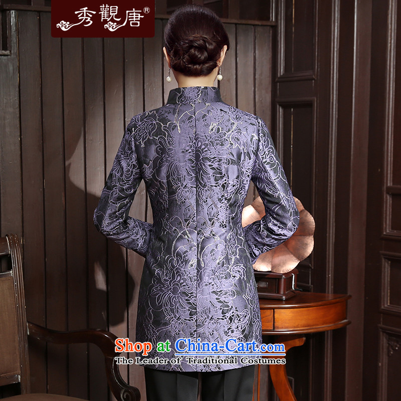 [Sau Kwun Tong] Cayman population by 2015 autumn and winter new Tang Blouses Chinese improved female jackets TC5812 Ms. purple聽XL, Sau Kwun Tong shopping on the Internet has been pressed.
