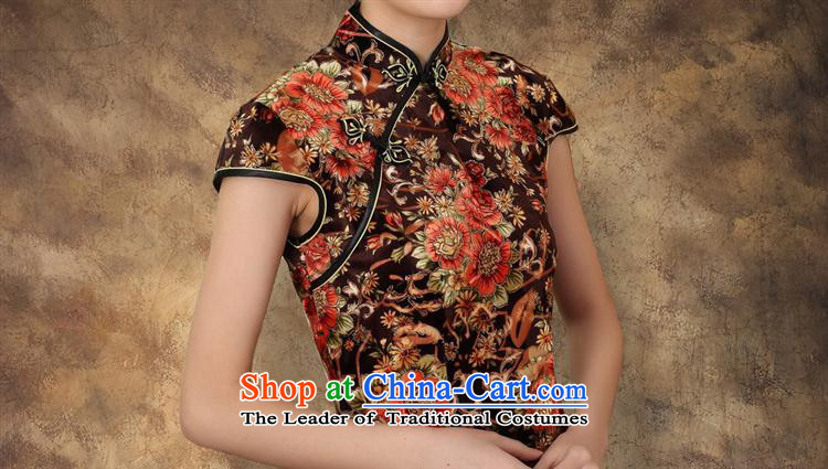 Mano-hwan's 2015 new elastic Kim scouring pads poster Couture fashion short-sleeved short cheongsam picture color pictures, prices, XL brand platters! The elections are supplied in the national character of distribution, so action, buy now enjoy more preferential! As soon as possible.