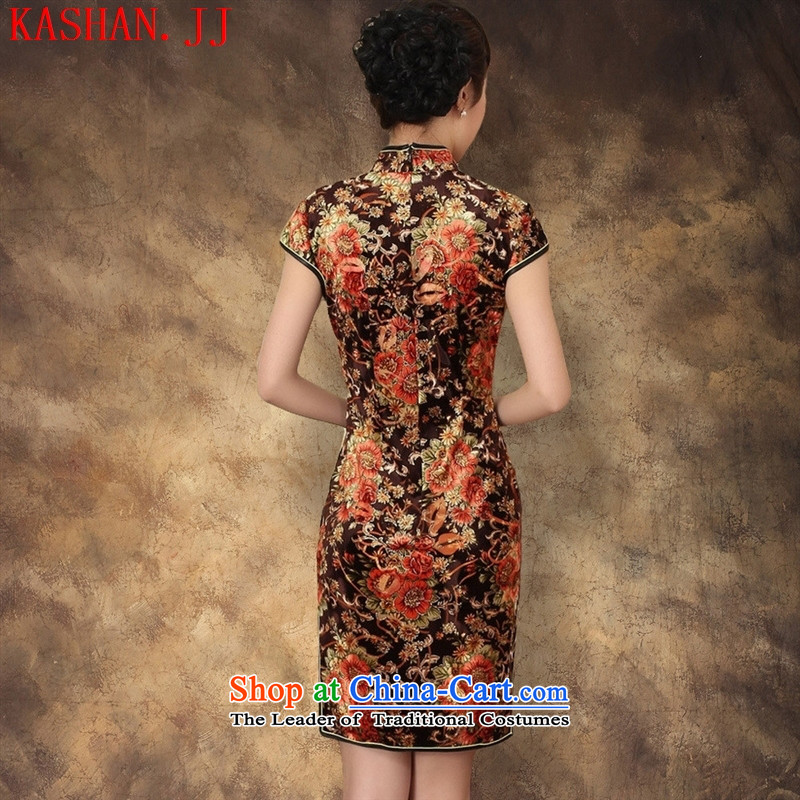 Mano-hwan's 2015 new elastic Kim scouring pads poster Couture fashion short-sleeved short cheongsam picture color XL, Susan Sarandon bandying (KASHAN.JJ card) , , , shopping on the Internet
