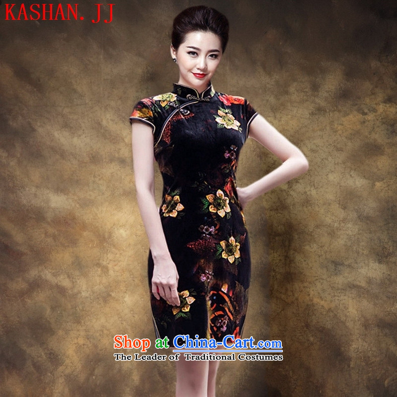 Mano-hwan's spring and summer new improved short of retro-scouring pads cheongsam wedding banquet short-sleeved bridal dresses figure�S