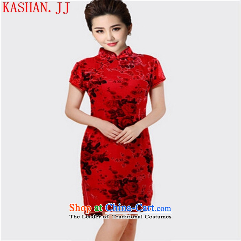 Mano-hwan's 2015 Spring/Summer cheongsam dress retro style qipao ethnic daily improved short skirts picture color of Qipao�XXXXL