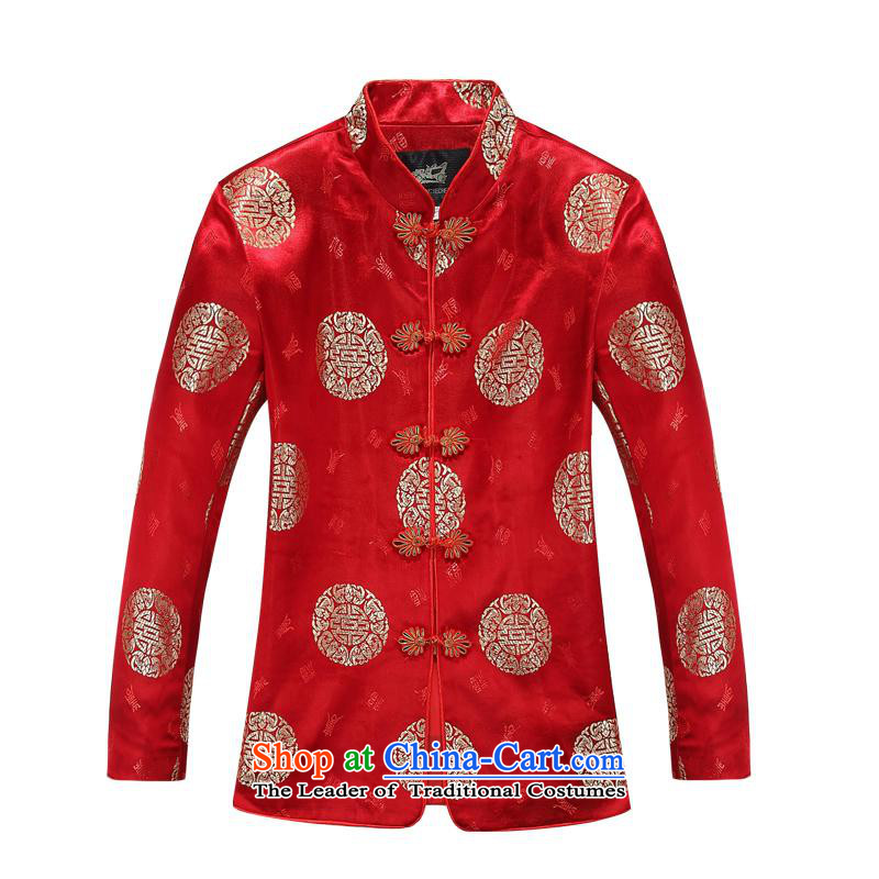 (bailv hundreds) autumn and winter, Tang dynasty women's long-sleeved jacket in MOM older Red?165