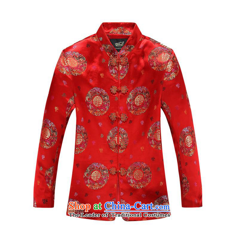 (bailv hundreds) autumn and winter, Tang dynasty women's long-sleeved jacket in MOM older Red?180