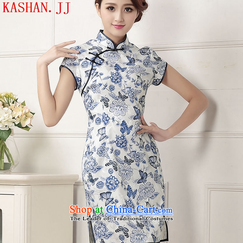 Mano-hwan's cheongsam dress in spring and summer 2015 New Chinese cheongsam dress daily fashion improved retro, Bush Sau San short?XL