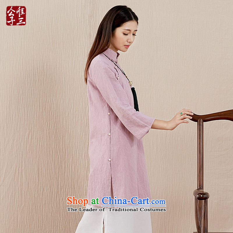 Cd 3 model, the Bodhisattvas brute Chinese cotton linen dresses robe tea serving original national qipao improved Tang Women's clothes water RED燤