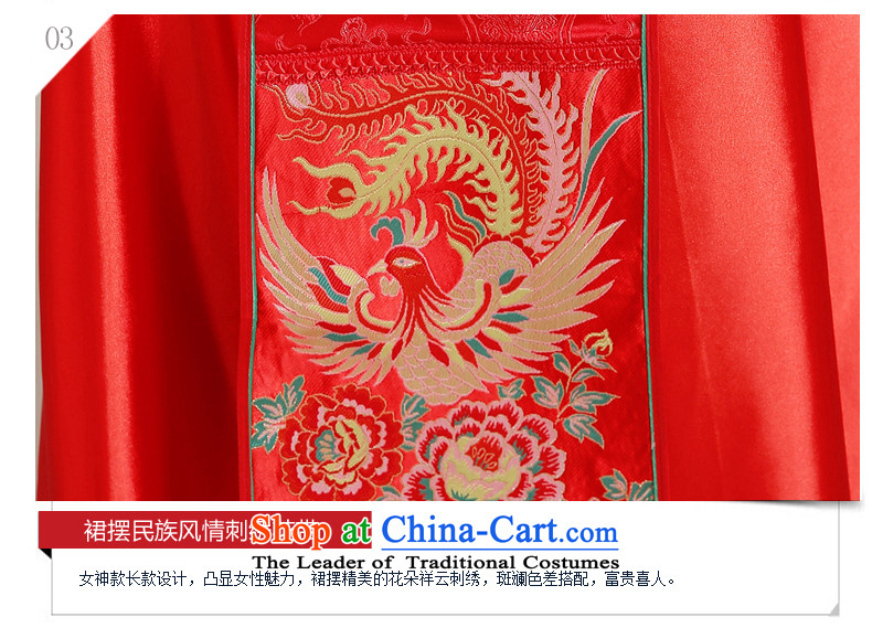 Miss Cyd Wo Service Time Syrian brides dress Chinese wedding dress bows red wedding dress retro cheongsam dress 2015 new kimono dragon costume of the CYD RED聽XL Photo, prices, brand platters! The elections are supplied in the national character of distribution, so action, buy now enjoy more preferential! As soon as possible.