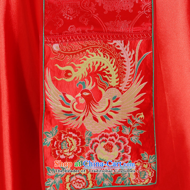 Miss Cyd Wo Service Time Syrian brides dress Chinese wedding dress bows red wedding dress retro cheongsam dress 2015 new kimono dragon costume of the CYD RED聽XL, Syria has been pressed time shopping on the Internet