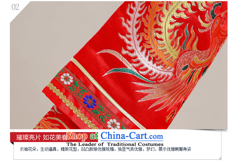 Time Syrian Chinese style wedding-soo wedding gown Wo Service Bridal pregnant women married long-sleeved red qipao gown longfeng use toasting champagne costume red聽S picture, prices, brand platters! The elections are supplied in the national character of distribution, so action, buy now enjoy more preferential! As soon as possible.