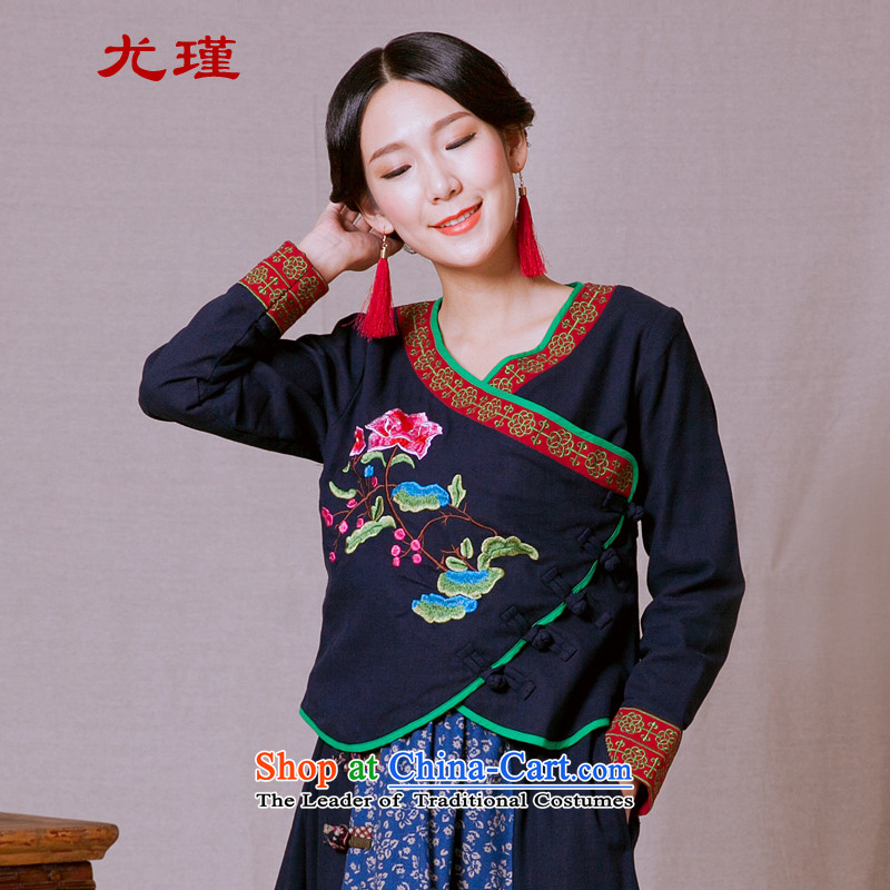 In particular, the new 2015-keun of ethnic women fall inside the Chinese Tang dynasty improved retro female clothes China wind Han-blue?L