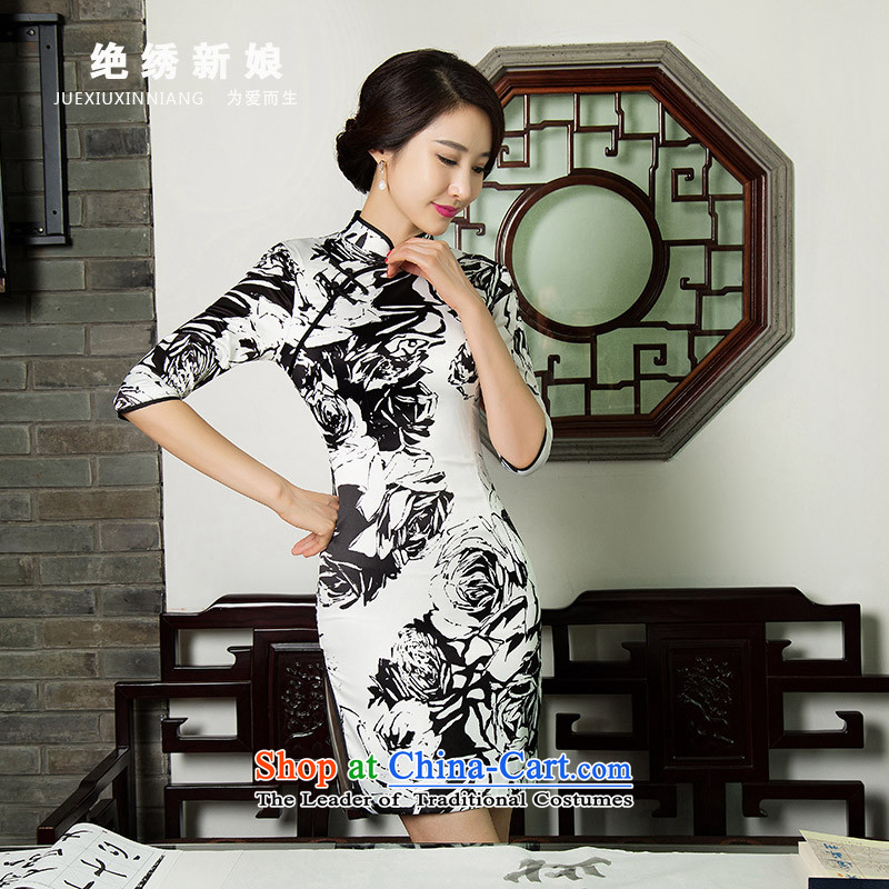 Sepia improved long summer 2015 new qipao short of teenage package Sau San and dresses summer short) 11019 M