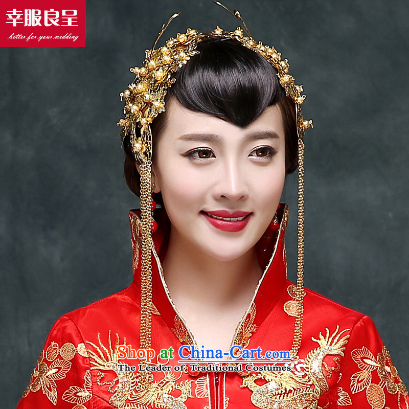The bride bows long service 2015 autumn and winter new retro qipao wedding dress Soo Wo service use 9 cuff to the Dragon Head Ornaments +98聽M