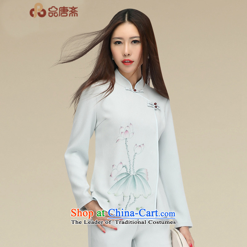 No. of Ramadan Tang Dynasty Ms. Tang Chiu-load of ethnic Chinese cheongsam dress shirt map color L