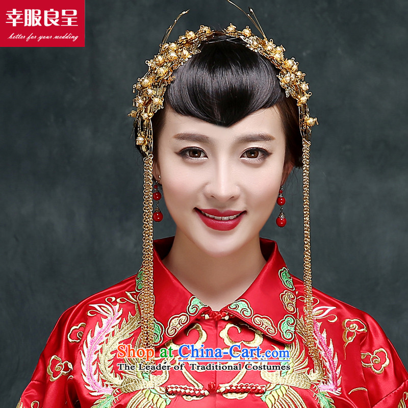 2015 New Chinese Sau Wo service-soo kimono gown marriage bows Service Bridal Services for autumn and winter, Hei cheongsam wedding gown Soo Wo Service +98 Million Head Ornaments聽L