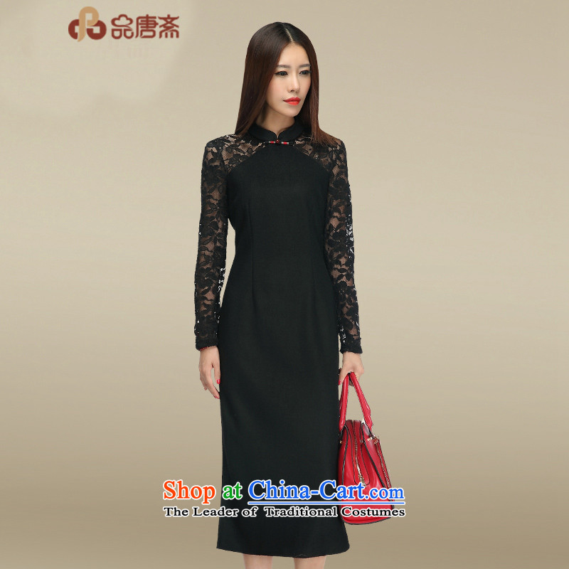 No. Tang lace cheongsam dress Ramadan 2015 new cheongsam retro long black XL