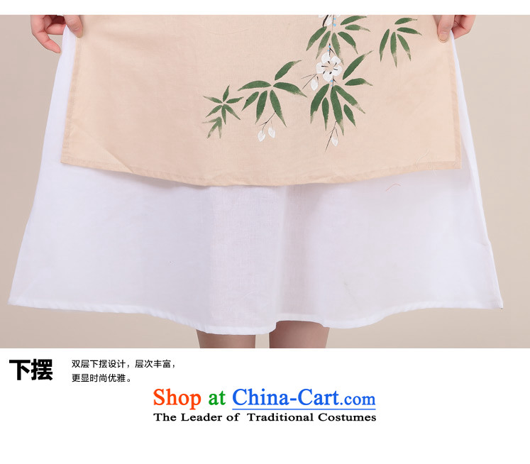 Ancient Evelyn, hand-painted 2015 cotton linen temperament cheongsam dress double spring loaded qipao loose retro long-sleeved red 2XL Photo, prices, brand platters! The elections are supplied in the national character of distribution, so action, buy now enjoy more preferential! As soon as possible.